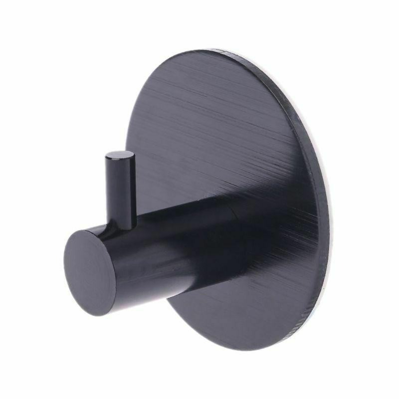 Samolepicí háček Elegance Round Barva: stříbrný